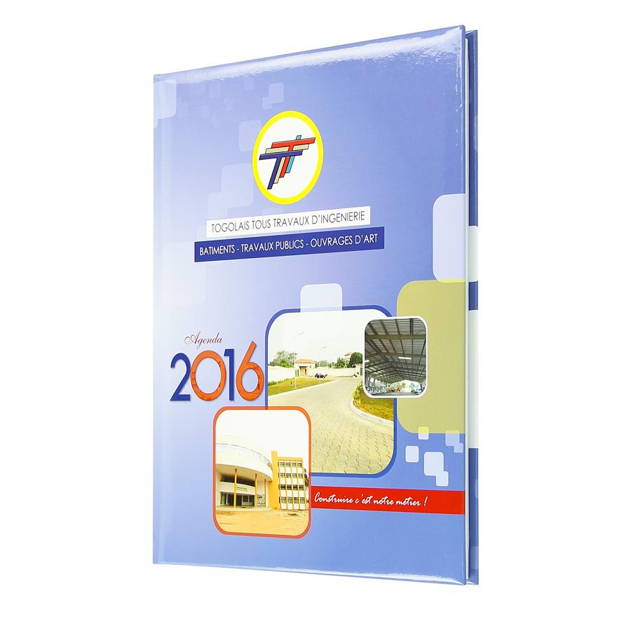 Togolese diary Tous Travaux d'Ingénierie - Agenda Afrique, custom diaries manufacturer