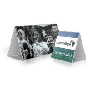 calendrier chevalet 2019 Agenda Afrique imprimeurs supports publicitaires