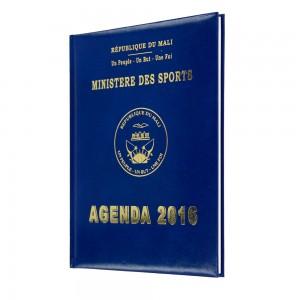 Ministère des sports diary of Mali 21x27 cm - Agenda Afrique, Diaries manufacturer