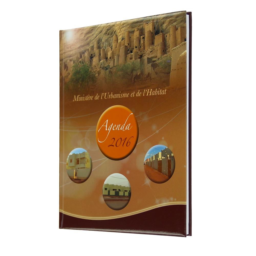 Ministère de l'urbanisme et de l'habitat diary - Agenda Afrique, Manufacturer advertising diary