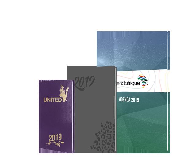 personnalised diary 2019 agenda afrique